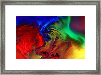 Colorful Contemporary Abstract Art Fusion  Framed Print by Kredart