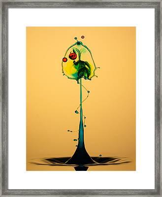Colorful Collision Framed Print by Jaroslaw Blaminsky