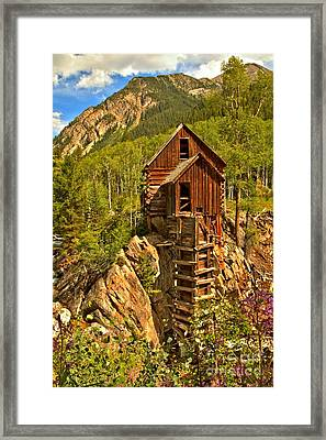 Colorful Crystal Mill Framed Print by Adam Jewell