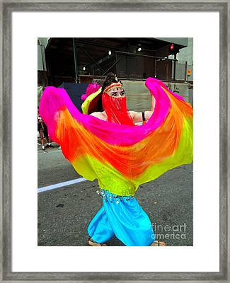 Colorful Dance Framed Print by Ed Weidman