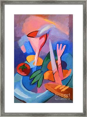 Colorful Dinner Framed Print by Lutz Baar
