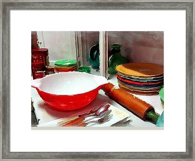 Colorful Dishes Framed Print by Bonnie Bruno