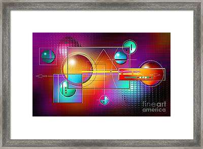 Colorful Framed Print by Franziskus Pfleghart