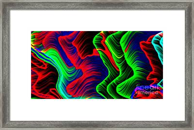 Colorful Gale Digital Abstract Framed Print by Mario Perez