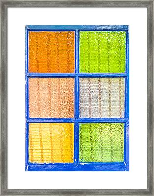 Colorful Glass Framed Print by Tom Gowanlock