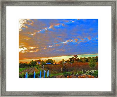 Colorful Harvest Framed Print by Minding My  Visions by Adri and Ray