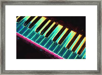 Colorful Keys Framed Print by Bob Orsillo