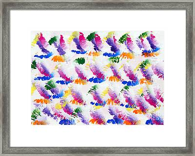 Colorful Kisses Framed Print by Andee Design