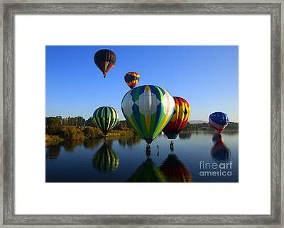 Colorful Landings Framed Print by Mike  Dawson
