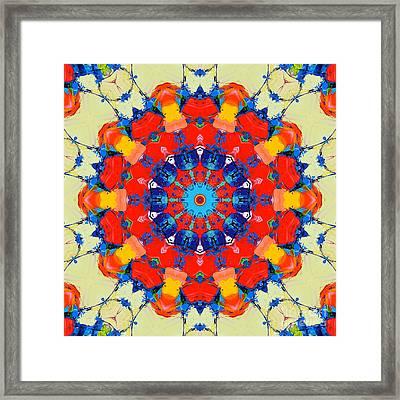 Colorful Mandala Framed Print by Ana Maria Edulescu