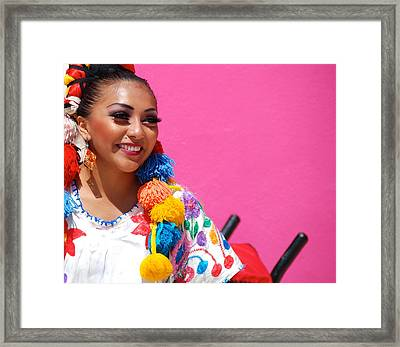 Colorful Mexican Dancer Framed Print by David Coleman