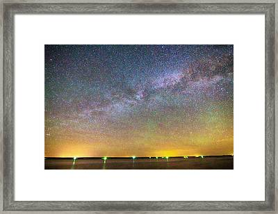 Colorful Milky Way Night Framed Print by James BO  Insogna
