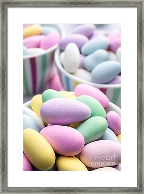 Colorful Pastel Jordan Almond Candy Framed Print by Edward Fielding