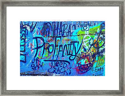 Colorful Profanity Framed Print by Turtleberry Press Photography