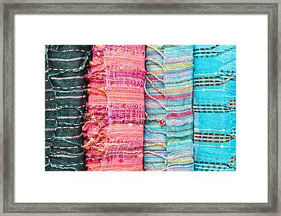 Colorful Scarves Framed Print by Tom Gowanlock