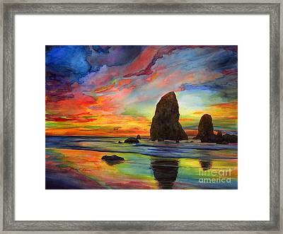 Colorful Solitude Framed Print by Hailey E Herrera