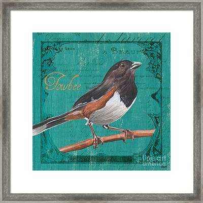 Colorful Songbirds 3 Framed Print by Debbie DeWitt