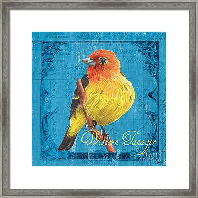 Colorful Songbirds 4 Framed Print by Debbie DeWitt