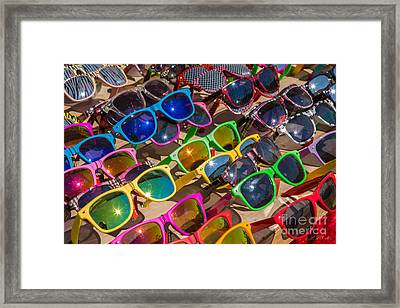 Colorful Sunglasses Framed Print by Iris Richardson