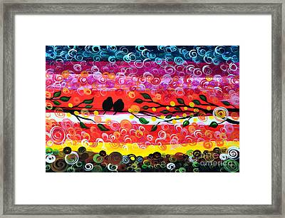 Colorful Sunset Framed Print by Mariana Stauffer