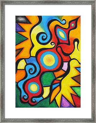 Colorful Framed Print by Sven Fischer