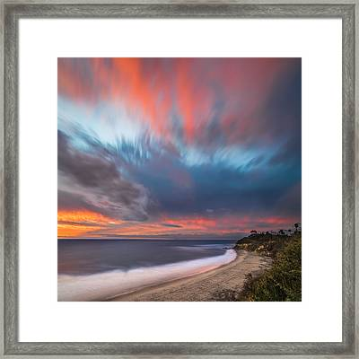 Colorful Swamis Sunset - Square Framed Print by Larry Marshall