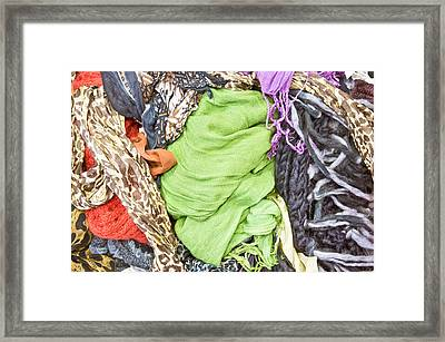 Colorful Textiles Framed Print by Tom Gowanlock