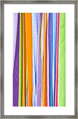 Colorful Towels Framed Print by Tom Gowanlock