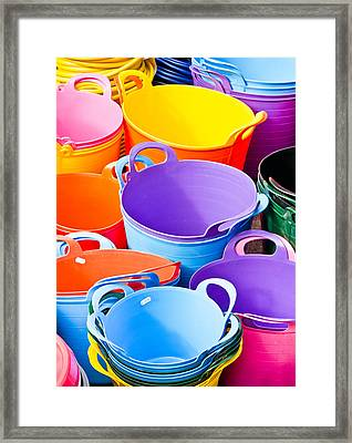 Colorful Tubs Framed Print by Tom Gowanlock