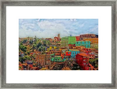 Colorful Valparaiso  Framed Print by Mountain Dreams