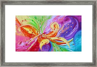 Colorful Vision Framed Print by Julia Apostolova