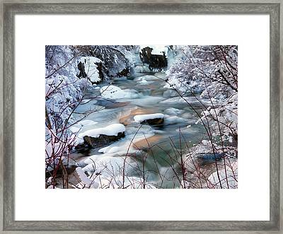 Colorful Winter Framed Print by Leland D Howard