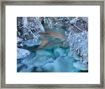 Colorful Winter Textures Framed Print by Leland D Howard