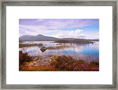 Colorful World Of Rannoch Moor. Scotland Framed Print by Jenny Rainbow