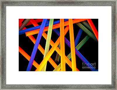 Coloring Between The Lines Framed Print by Charles Dobbs
