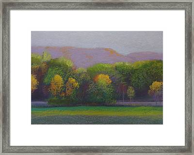 Colors By The Tracks Framed Print by Sherri Anderson