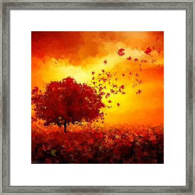 Colors Hymn Framed Print by Lourry Legarde