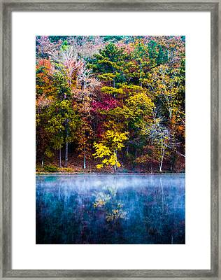 Colors In Early Morning Fog Framed Print by Parker Cunningham