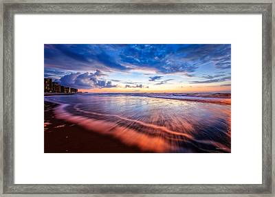 Colors In Surf Framed Print by Everet Regal
