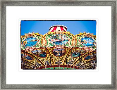 Colors Of A Carousel Framed Print by Colleen Kammerer