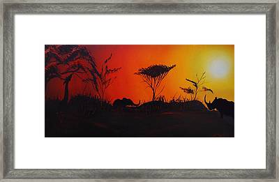 Colors Of Africa 45 Framed Print by Portland Art Creations