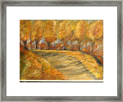 Colors Of Autumn Framed Print by Corina  Lupascu