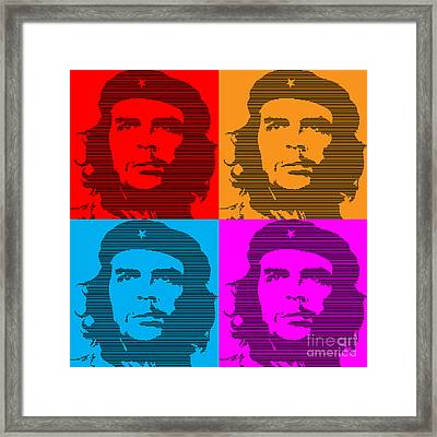 Colors Of Che No.7 Framed Print by Bobbi Freelance