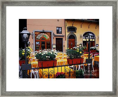 Colors Of Italy Framed Print by Mel Steinhauer