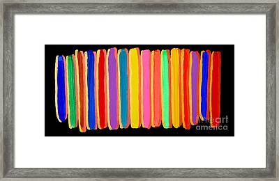 Colors Of Light - Abstract Gold Oil Painting Original Modern Contemporary Art House Wall Deco Framed Print by Emma Lambert