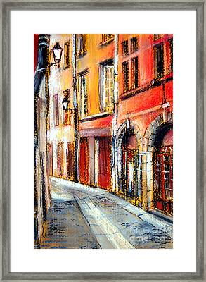 Colors Of Lyon 3 Framed Print by Mona Edulesco