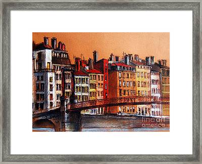 Colors Of Lyon I Framed Print by Mona Edulesco