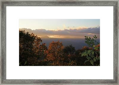 Colors Of Sunset Over The Smokies Framed Print by Dan Sproul