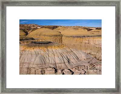 Colors Of The Badlands Framed Print by Vivian Christopher