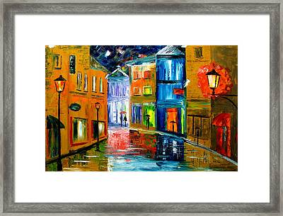 Colors Of The Night Framed Print by Mariana Stauffer